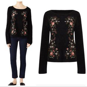Cupcakes and Cashmere Ruthie Embroidered Sweater